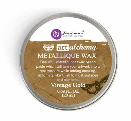 Art Alchemy - Metallique Wax - Vintage Gold