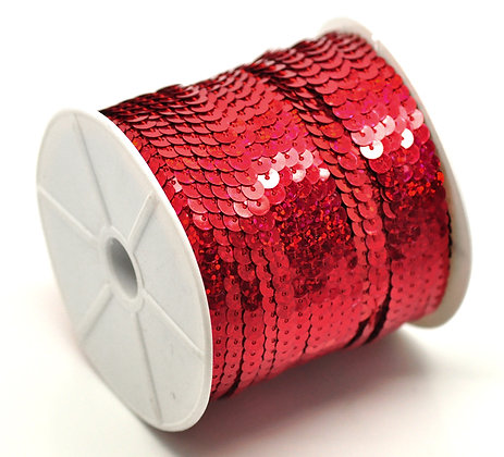 Ruby Red - Sequin Trim 5m lots
