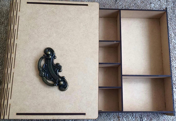 Large Book Box with Configuration Drawer
