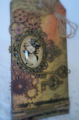 Autumn Inspired Mixed Media Tag