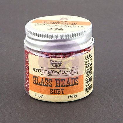 Art Ingredients - Glass Beads - Ruby