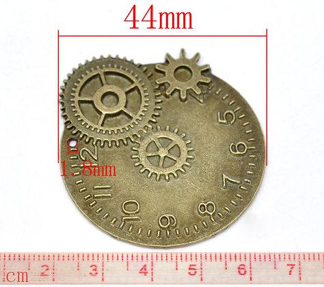 Various Cog/Clock Charm Pieces