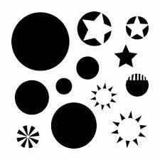 Balzer Design Mini Layered Circles Stencil 6x6 290