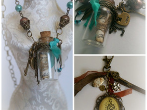 Bottle Necklace and Keychain