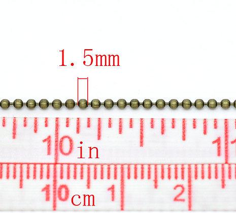 Ball Chain - Antique Bronze 1.5mm