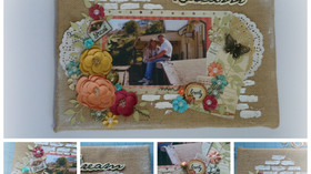 Burlap Canvas Layout - Dream