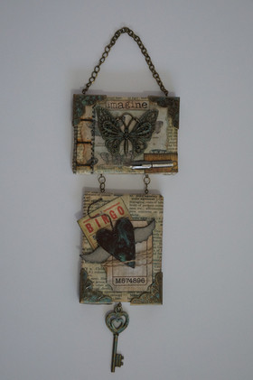 Tim Holtz Style Wall Hanging