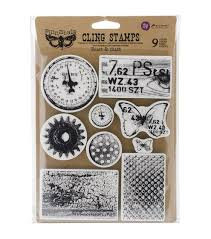 Finnabair Cling Stamp - Rust And Dust