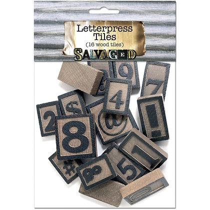 Salvaged Wood Letterpress Blocks 5mm 16pk