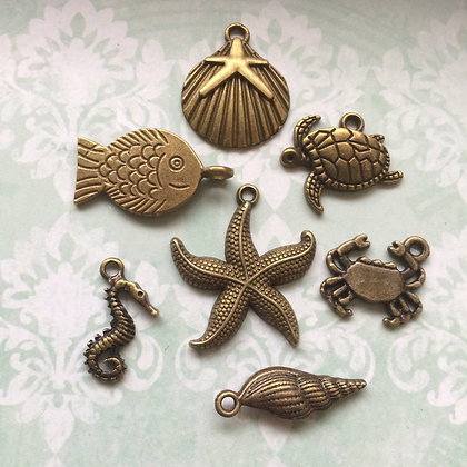 Sea Shells & Creatures Charm Pack