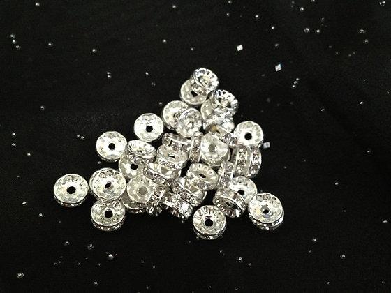 10mm Crystal Rondelle Spacers