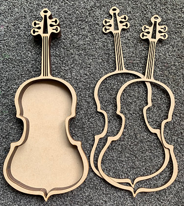 Violin layered shadow box