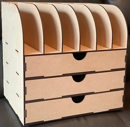 Large storage and paper organiser rack