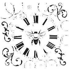Rebekah Meier Mini Bee On Time Stencil 6x6 489s