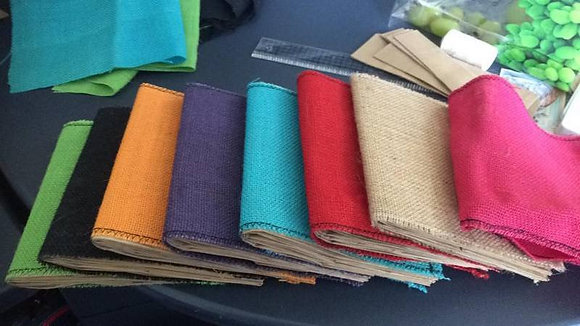 Burlap Paper Bag Albums - Colours