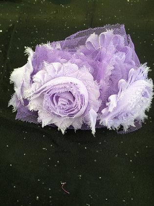 Chiffon Flower Trim (Purples)