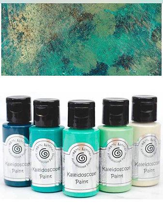 Kaleidoscope Cosmic Shimmer Paints - Jade Garden