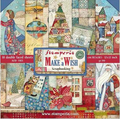 Make A Wish Stamperia 12x12 Paper Pad