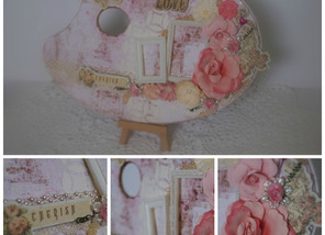 Shabby Chic Altered Artist Palette