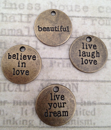 Word Round Charms