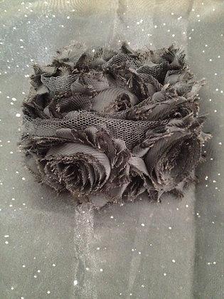 Chiffon Flower Trim (Blacks)