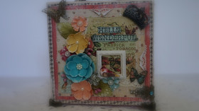 Hello Wonderful Altered Canvas