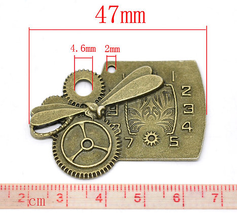 Various Cog/Clock Charm Pieces