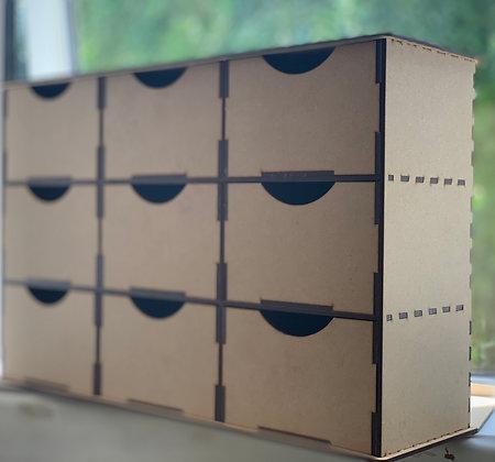 9 drawer trinket organiser