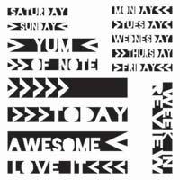 """Balzer Designs 6x6"""" - Life Strips Stencil 316"""