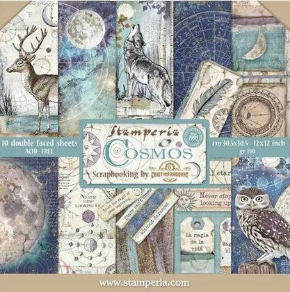 Cosmos - Stamperia 12x12 Paper Pad