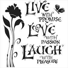 Joanne Fink Mini Live Love Laugh 6x6 Stencil 467