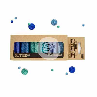 Caribbean Sea Art Ingredients Glitter Set