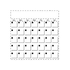 Mini Calendar Stencil 6x6 161