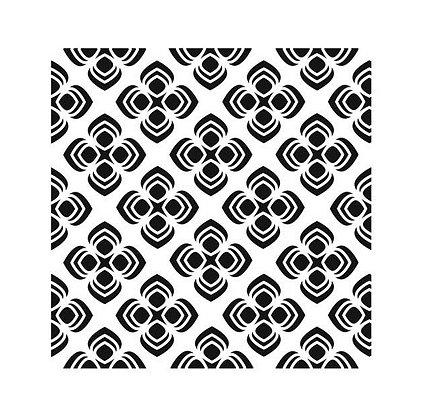 Mini Peacock Pattern 6x6 Stencil 379