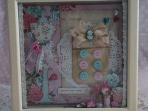 Sewing Themed Shadow Box