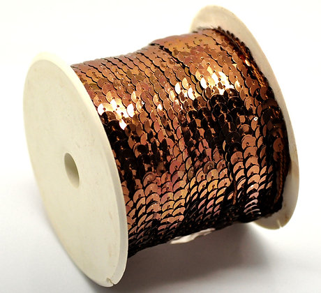 Coffee - Sequin Trim 5m lots