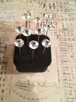 Small Diamante Pins