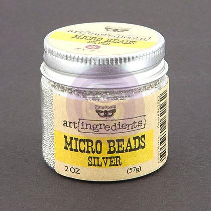 Art Ingredients Micro Beads - Silver