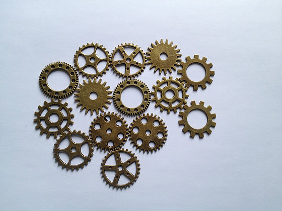 Gears Perfect for Steampunk x 4 colours