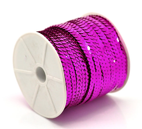 Fuchsia - Sequin Trim 5m lots