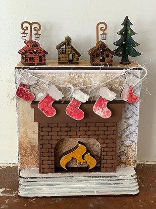 Christmas Kit - Fireplace Storage & Mini Album