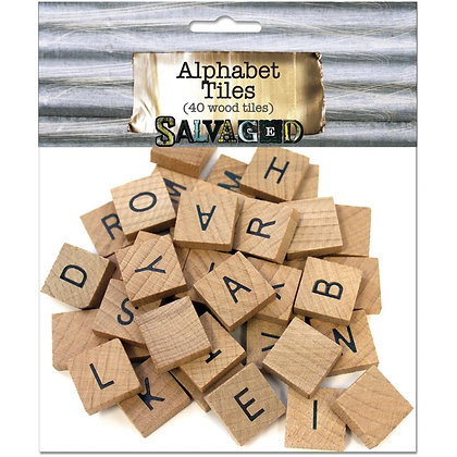 Salvage Wood Alphabets - 40pk