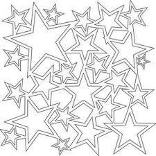 Mini Star Shower Stencil 6x6 170