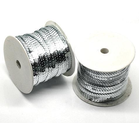 Silver AB - Sequin Trim 5m lots