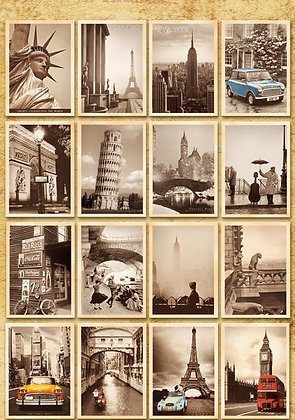 U.S Vintage Themed Postcards