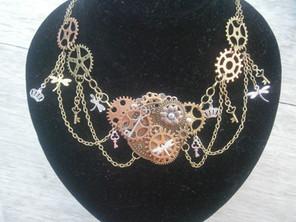 Steampunk Inspired Statement Necklace