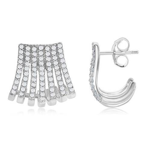 Sterling Silver Cuff with Post Earrings CL-D-6555