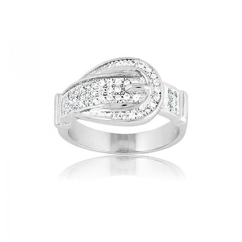MICRO PAVE RING BUCKLE RING W-9261
