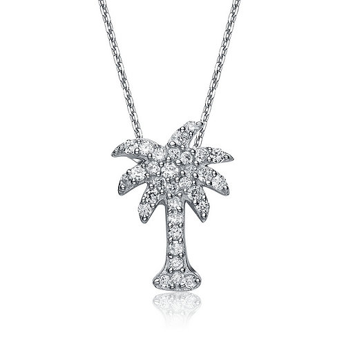 Sterling Silver Palm Tree Pendant CSN-PEN7043