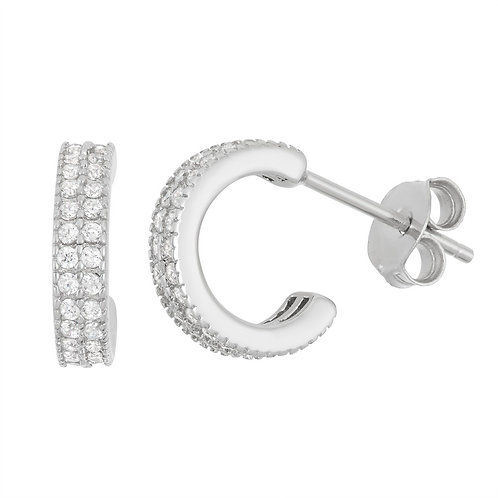 Sterling Silver 7mm Hoop Earrings CL-D-5939